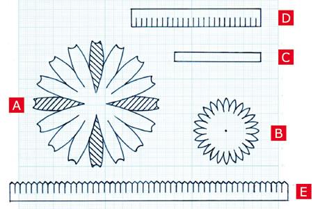 フェルトで手作り♪ガーベラの作り方「型紙」