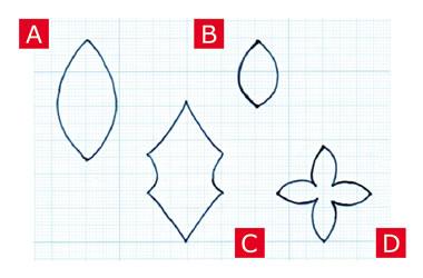 フェルトで手作り♪ポインセチアの作り方「型紙」