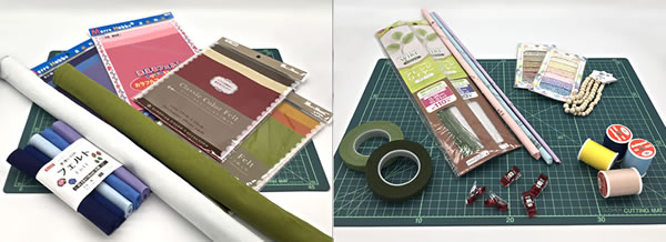 フェルトで手作り♪ポインセチアの作り方「必要な材料・道具類」